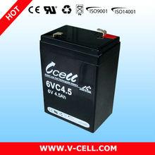 6V 4.5Ah recycling lead acid batteries