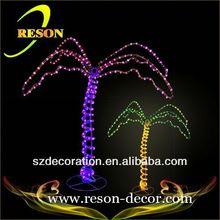 RS-tree29 Christmas led palm tree metal art