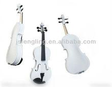 Violino colorido com partes ébano ( branco )