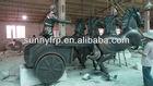 Fiberglass horse carriage sculpture figure
