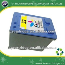 Office printer ink cartridge 22, ink cartridge for hp 22.