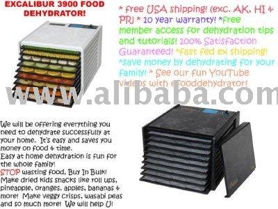 Excalibur 3900 desidratador de alimentos com 9 bandejas& 10 ano de garantia