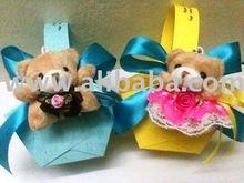 Wedding Souvenir - Teddy Bear with basket