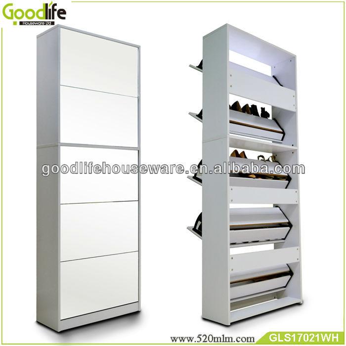 Muebles para el hogar de almacenamiento espejo para zapatos in closet