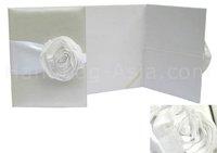 Silk Wedding Folder & White Roses