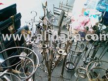 Wrought iron candlestick