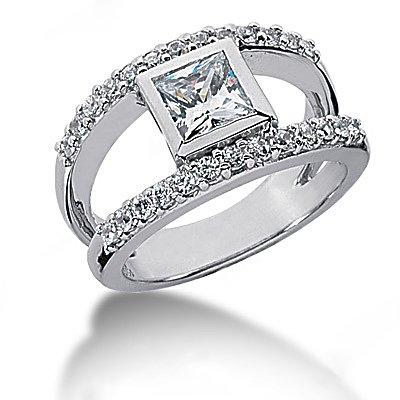 1 Ct DIAMOND wedding ring gold E VVS1 diamonds ring