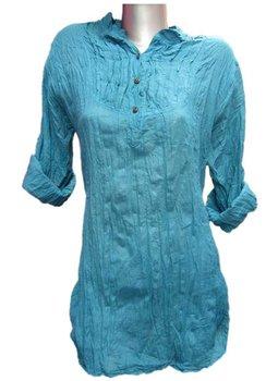 100% lady cotton shirt blouse