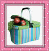 Folding picnic basket cooler camping basket