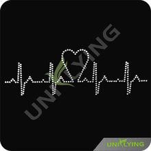 Heart rate trendgram rhinestone transfer