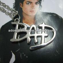 Fashion Classical Michael Jackson Souvenir Letter Necklace