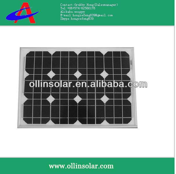 30W,40W,50W,60W mono solar panel