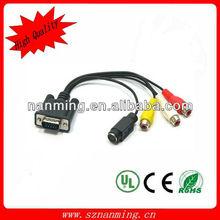 HDMI to VGA+3RCA Cable,cable vga+3rca to hdmi