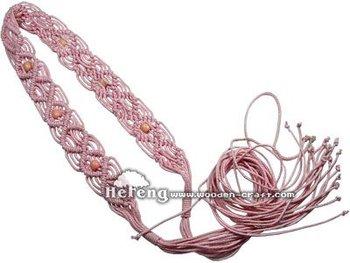 Wood Belt, Beads Belt, Women Belt, Fashion Belt, Rope Belt