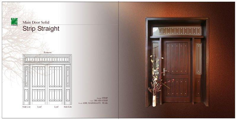 Strip Straight Solid Main Door View Wood Door Interwood