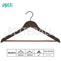 coffee wooden flat hangers