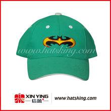 green stylish sport baseball cap and hat