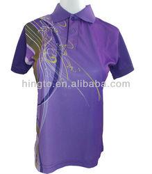 2013 Hot Selling Women Design Badminton Jersey Badminton Polo Shirts(Short Sleeve)