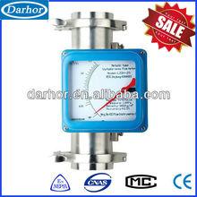 Amored metal float variable area drinking water flow meter