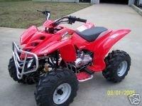 New 2005 Akuma 200cc ATV Quad Shaft Red