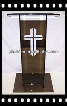Rd-577 venda quente desktop acrílico púlpito; púlpito da igreja pedestal; digital púlpito