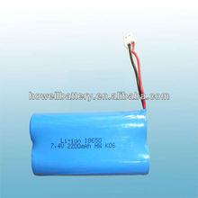 2s1p 7.4v 18650 battery/18650 li ion battery PDA