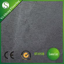 Factory hot selling loose lay anti-slip waterproof flooring vinyl tiles slate