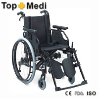 Rehabilitation tapy aluminum alloy wheelchair caster solid with manual self propel wheelchairs
