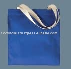 ROYAL BLUE DYED COTTON SHOPPING BAG WITH WEBBING HANDLE