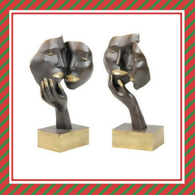 D coration int rieure statues pour la maison amour abstrct statues en bronze - Statue deco interieure ...