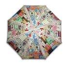 Flower Quilt gorgeous printing 3steps auto folding umbrella
