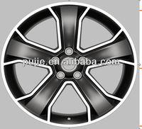 20 inch black rims wheels with chrome lip