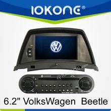 "6.2""In Dash DVD,Bluetooth,iPod,SD,USB,GPS,Radio SWC for VolkWagen VW BEETLE"