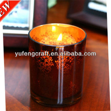 candles with religious images for decoration