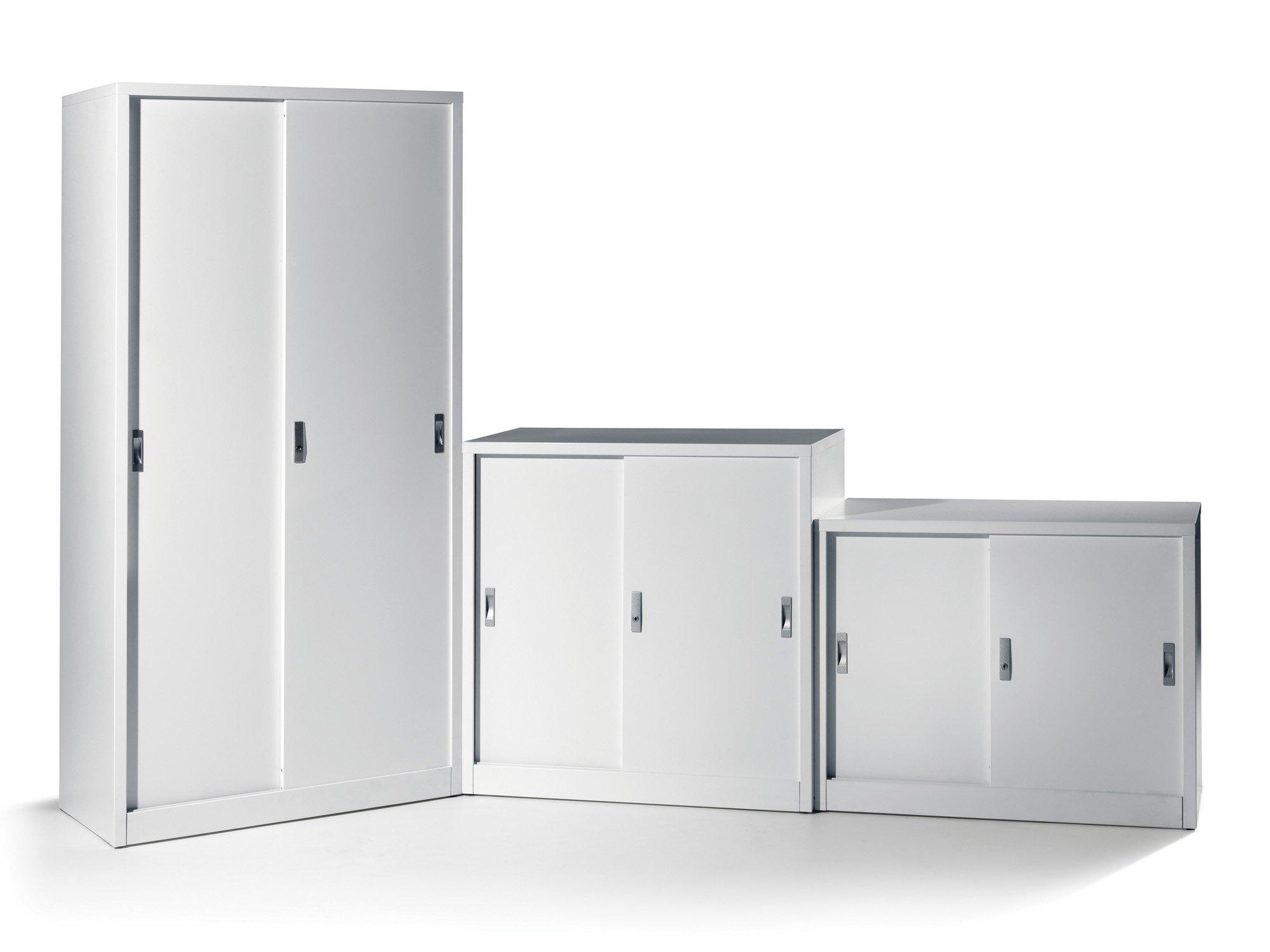 Metal sliding door cabinet photo detailed about metal for Sliding cupboard doors