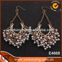 indian big chandelier earrings pearl earrings for women