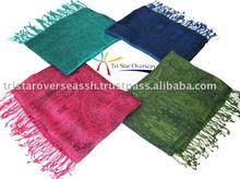 Viscose acrylic Scarf, Viscose acrylic shawls