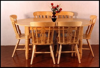 Rubco Rubwood Six Seater Oval Table With 705 Chair