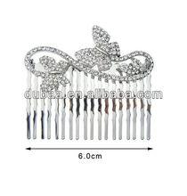 Rhinestone Hair Comb,Butterfly Costume Hair Clip Comb,Slide Hair Comb,Fashion Hair Fork Comb