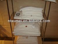 16s combed cotton white plain hotel face towel/hand towel/bath towel