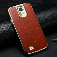 2013 New product fashion design vintage style crazy horse leather cell phone case for samsung galaxy s4