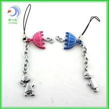 AA Princess umbrella love couple key Fashion Metal couples Key Chain for lover