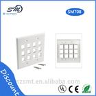 12 Port Keystone decorative plates for walls - White