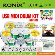 Children's Perfect Gift Portable USB MIDI Drum Kit The Voice on Sale