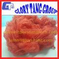 Poliéster reciclado de fibras discontinuas de fabricante, De color rojo brillante de fibra de poliéster grado AAA