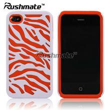 Premium Zebra Mobile Phone Skin Case Faceplate for Apple iphone 4G 4S
