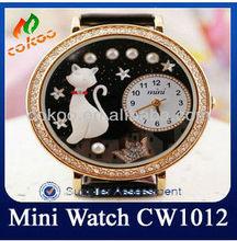 Lovely cat fashion korea mini brand watch waterproof watch