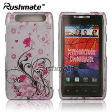 For Motorola Droid Razr 4G XT910 XT912 Pink Flower Hard Design Case Cover