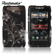 For Motorola Droid Razr 4G XT910 XT912 Black Silver Plastic Design Hard Shell Case Cover