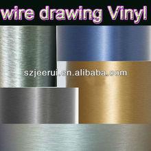New Design Colored Brushed Steel Vehicle Wrap Vinyl Film,Carbon Fiber Adhesive Stretch Wrap Vinyl Film,Brushed Film Car Sticker